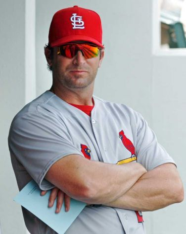 Mike Matheny - Cardinals manager. I like him so much!