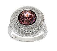 Judith Ripka Sterling 7.00ct Pink Diamonique Round Swirl Ring - J272455