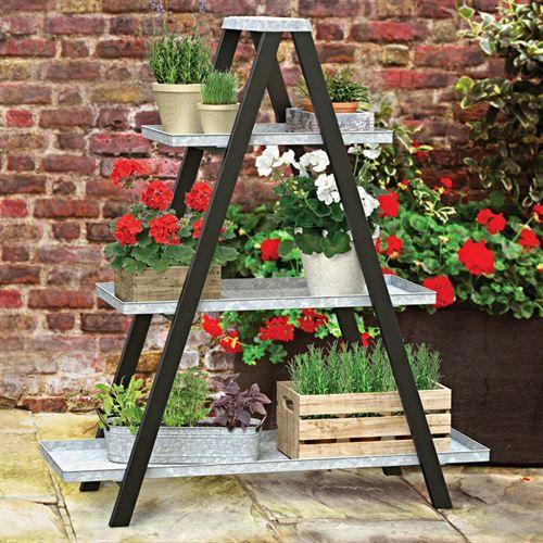 Vintage A Frame Ladder Stand Plant Stand Vintage Ladder Ladder Stands