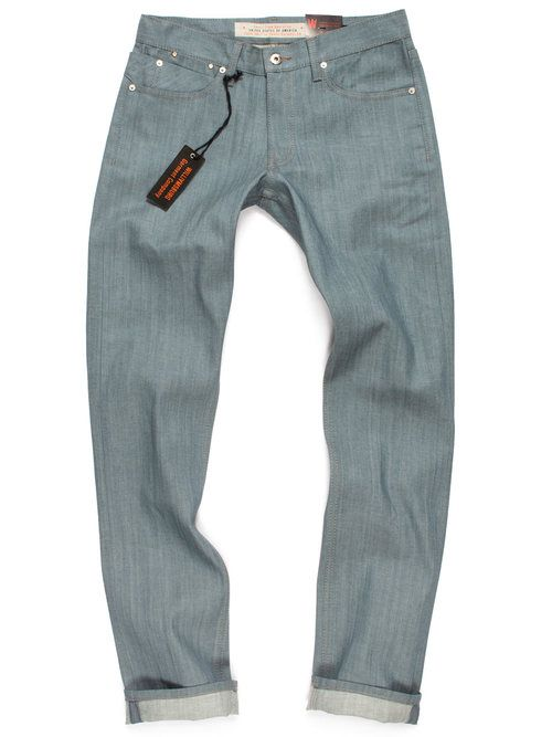 Seafoam Green Raw Colored Jeans Made In Usa Slim Grand St Flannel Lined Jeans Mens Jeans Denim Ideas