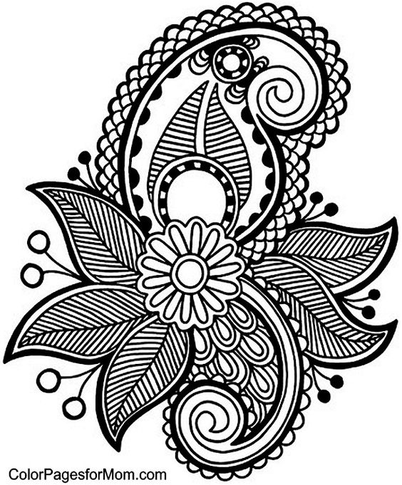 Line Art Typography : Paisley coloring page tattoo pinterest färben