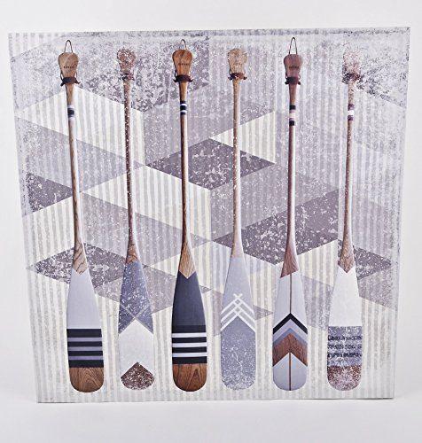 Wandbild Paddel Maritim Design Kunstdruck 70x70cm Yachtin…