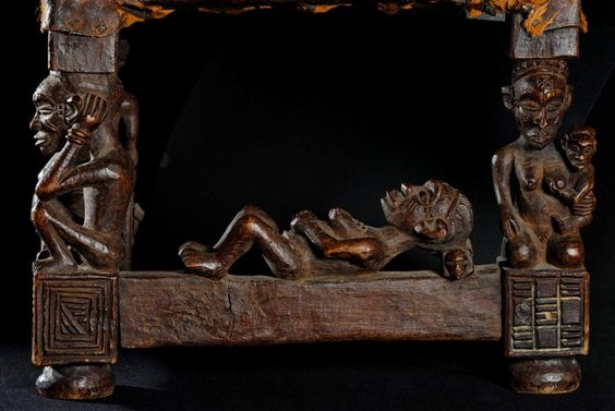 "Chief stool - Chokwe - Angola (detail) ""citwamo"""