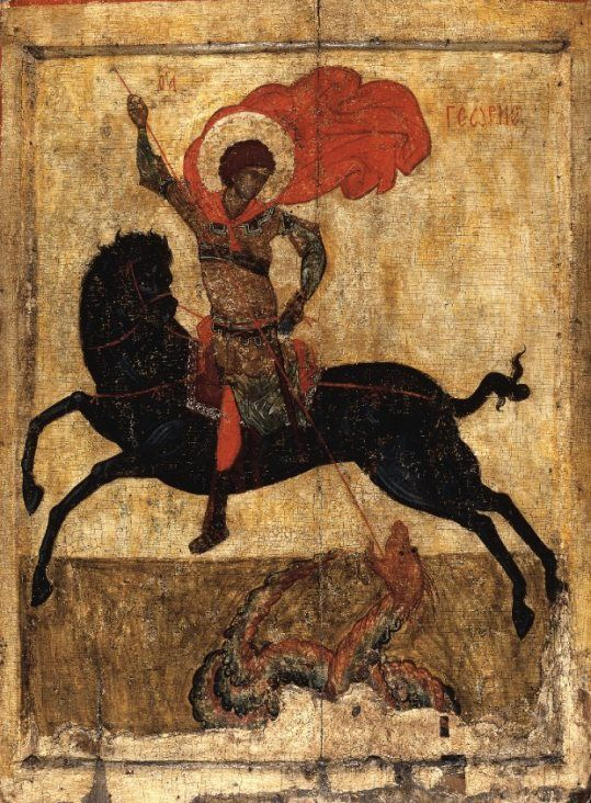 The Miracle of St. George and the Dragon / Black George, Novgorod, 1400-1450