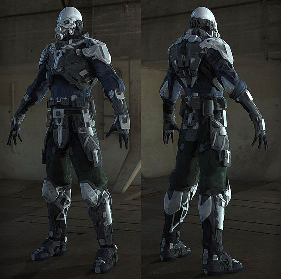 My redesign of the Combine soldier from Half-Life 2 ...
