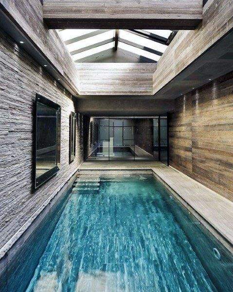 Top 60 Best Home Swimming Pool Tile Ideas Backyard Oasis Designs Swimming Pool House Indoor Pool Design Indoor Outdoor Pool