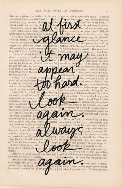 look again