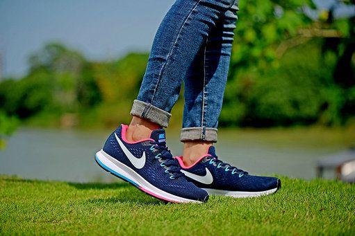 Mens Running – Nike Air Zoom Pegasus 34 Running Shoes GreyBlue