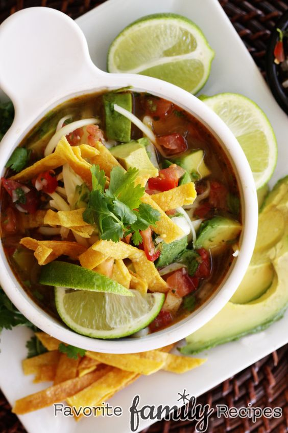 Our Version of Cafe Rio's Chicken Tortilla Soup