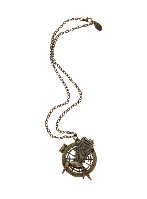 The Hunger Games: Catching Fire Mockingjay Secret Quote Necklace | Hot Topic