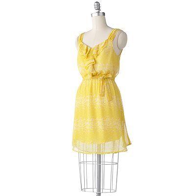 LC Lauren Conrad Butterfly Ruffle Chiffon Dress Set