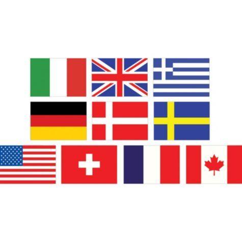 Mini International Flag Cutouts 10ct - Party City