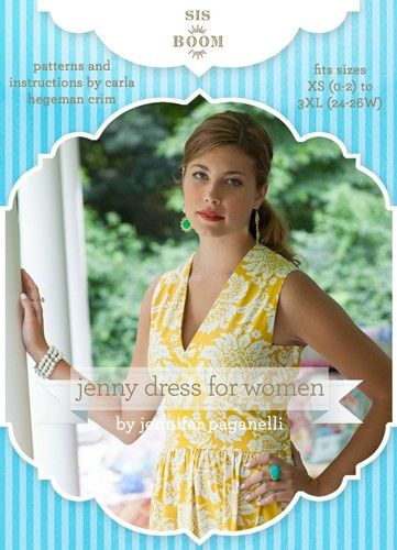 Sis Boom's Jenny Dress for Women Sewing Pattern