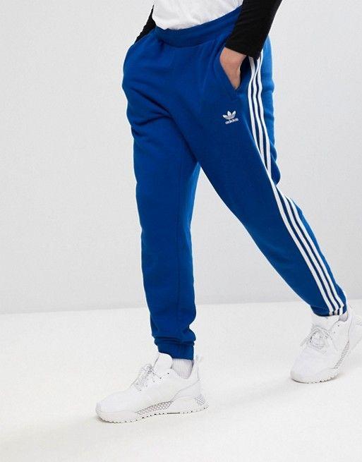 adidas Originals adicolor 3-Stripe Sweatpants In Blue CW2430 ...