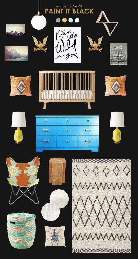 Check out Style Spotters today for some nursery inspiration with dark walls! What do you think about darker walls in a nursery? Go here for sources. Don't forget to enter the awesome Rikshaw Design giveaway!!