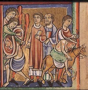 Притча о добром самарянине. Франция. 12 век