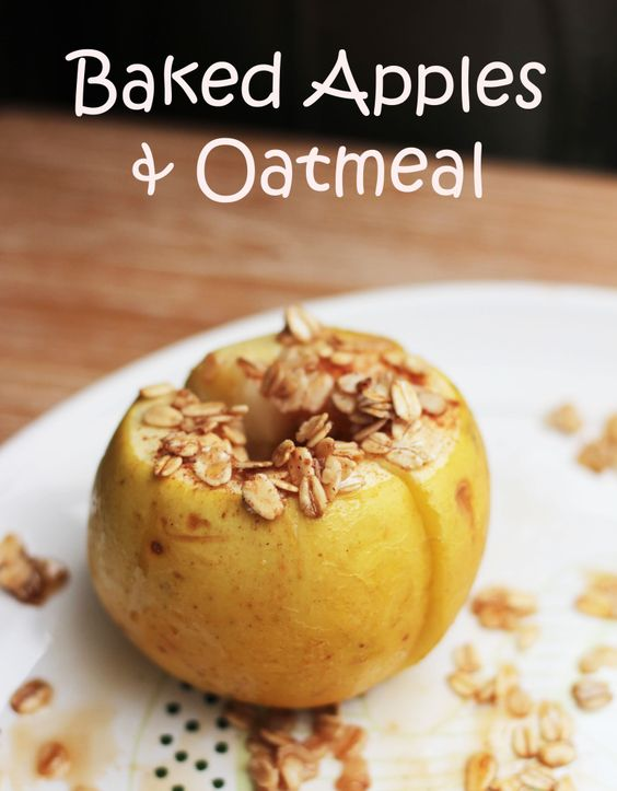 baked apples and oatmeal