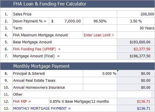 Fha Home Loan Calculator Easily Estimate The Monthly Fha Mortgage Payment Wit 15 Year Amort With Images Fha Loan Calculator Fha Mortgage Mortgage Refinance Calculator