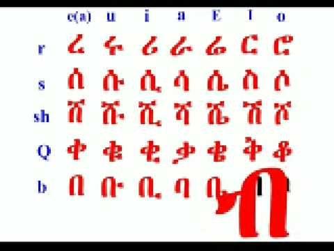 Learn the Amharic Fidel (Alphabet).