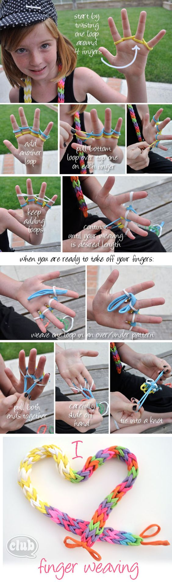 finger weaving tutorial @clubchicacircle
