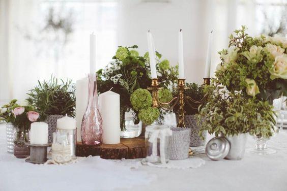 Earthy green table decor   Photo by Barbara Zanon