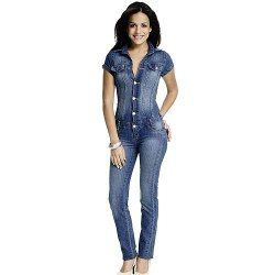macacão jeans com calça