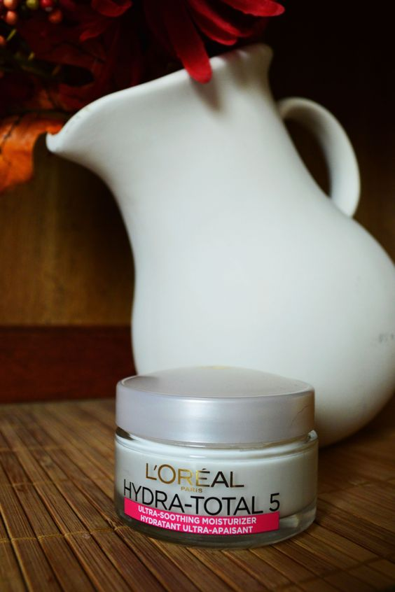 Here we have the L'Oreal Hydra- Total 5 Ultra Soothing Moisturizer. It's light and non- greasy, and works really well to soften your skin. Since using this product, my skin is very soft every day, and I have not had and dry patches or eczema patches- something I usually always get in this dry winter weather. It also works well under your makeup :)  #BeyondHydration #5Works  (I got it free to test out and review!)