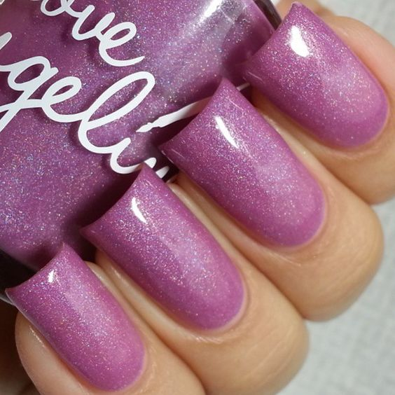 "Final swatch of the night is @loveangelinepolish ""Winter air and pinky swear"", 2 coats plus topcoat."