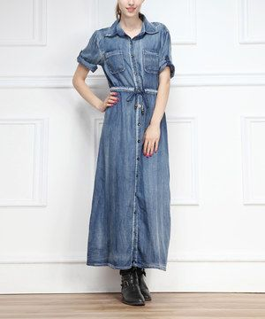 Love this Miss Maxi Medium Denim Maxi Dress by Miss Maxi on #zulily! #zulilyfinds