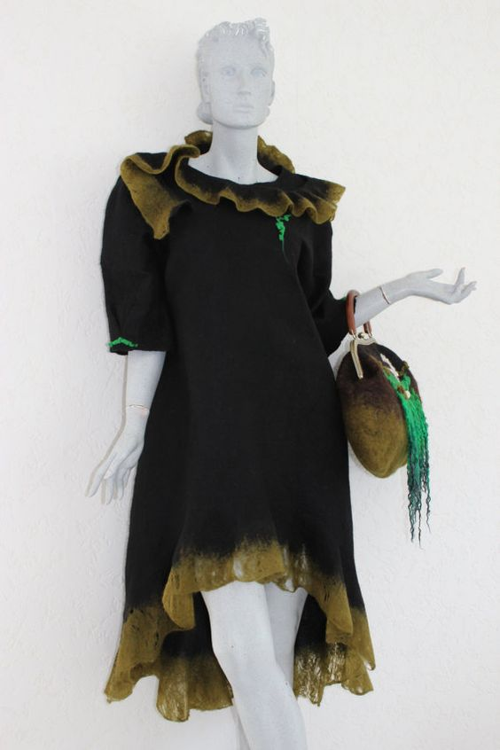 Felt dress by MyMaeaehh on Etsy