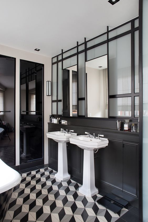 Sweet home tuile and salle de bain on pinterest for Deco salle de bain orchidee