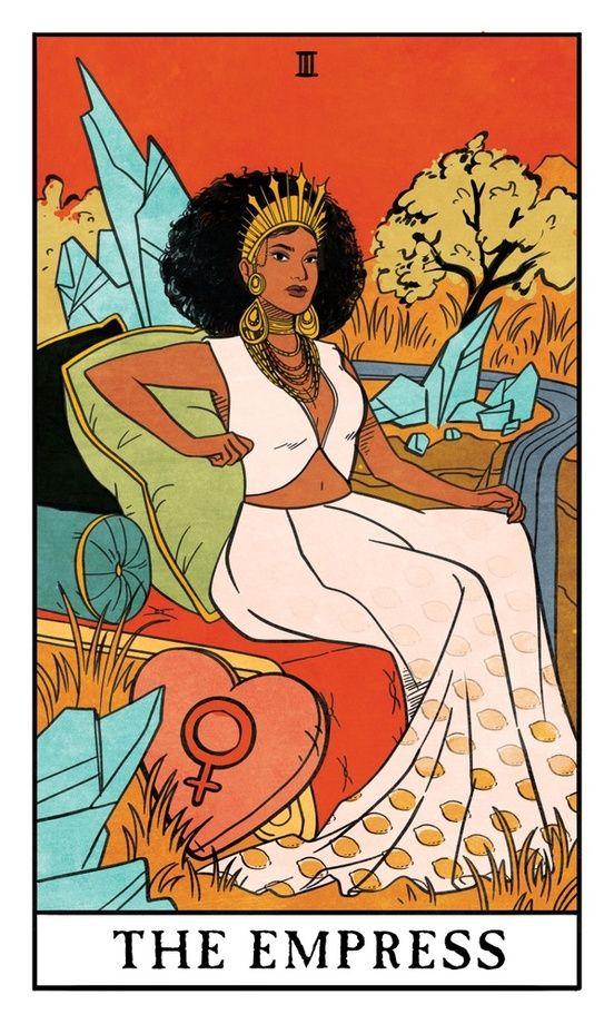 The Empress Modern Witch Tarot An Art Print By Lisa Sterle