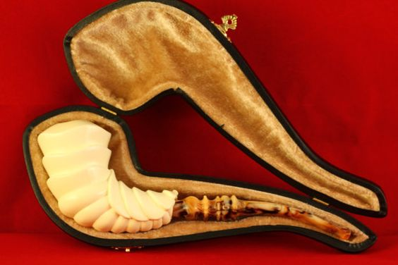block meerschaumhand carvednewfrom by MEERSCHAUMPIPES on Etsy