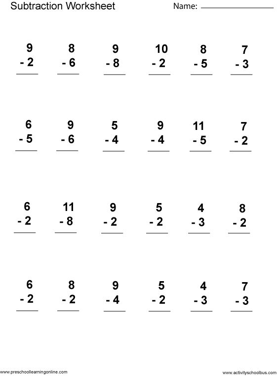 math worksheet : first grade math worksheets first grade math and math worksheets  : First Grade Subtraction Worksheets