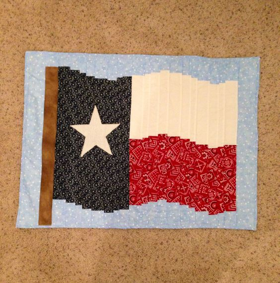 Hanging Flag On Wall texas flag quilt wall hanging in a bargello pattern. made for my