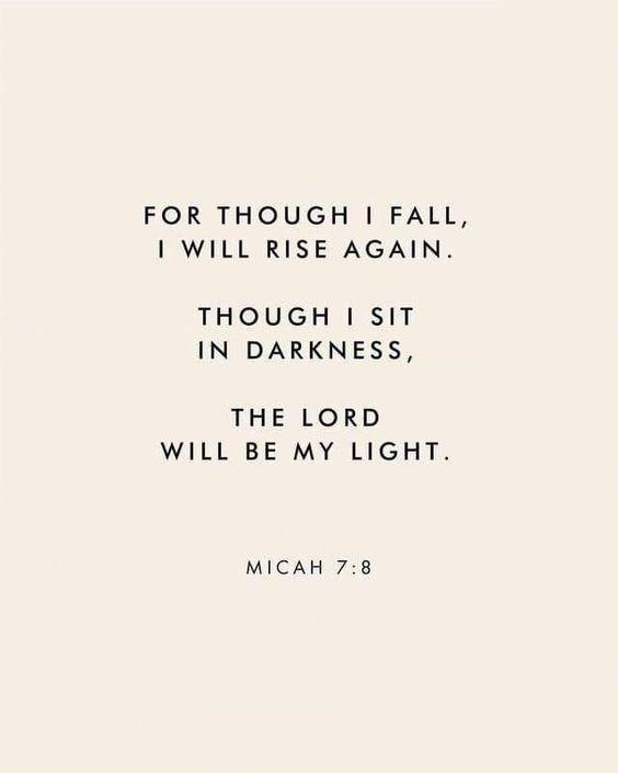 Micah 7:8 Christian Living l Bible Verse l Trials l