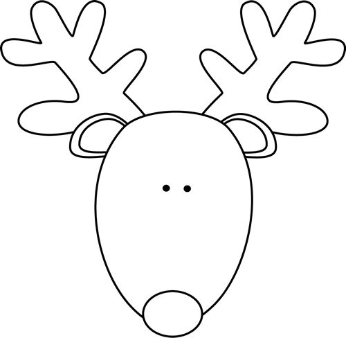 reindeer coloring pages head - photo#2