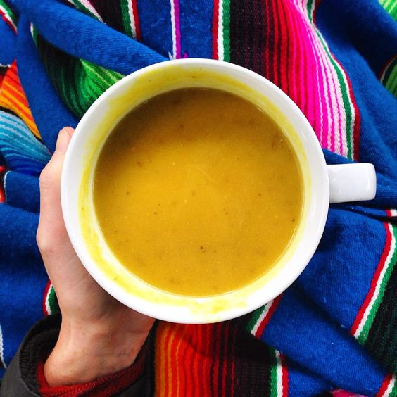 Packed with turmeric, lentils, potatoes and warming spices this soup is the perfect cool weather meal.