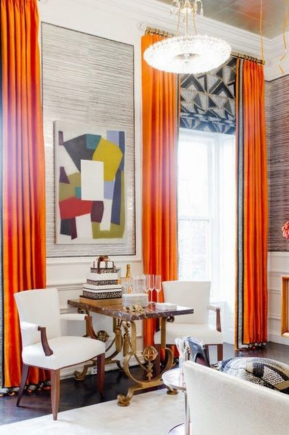 Orange Window Treatments