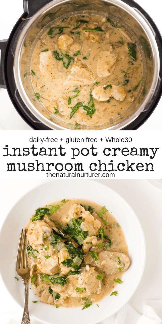 Instant Pot Creamy Mushroom Chicken
