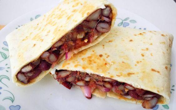 Red Kidney Beans Tortilla Wraps Recipe
