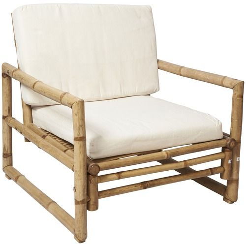 Tenerife Bamboo Chair With Cushion In, Can Bamboo Furniture Be Used Outdoors