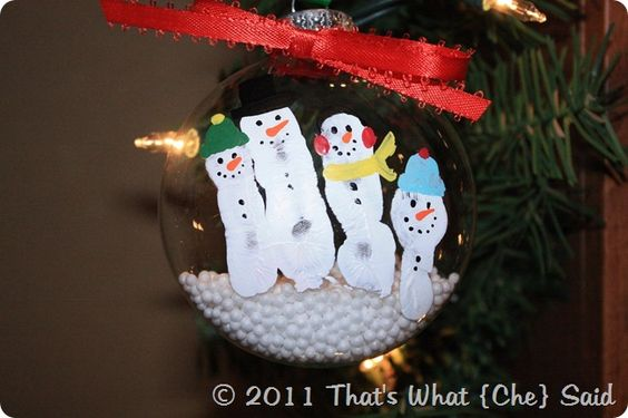 Fingerprint snowmen!