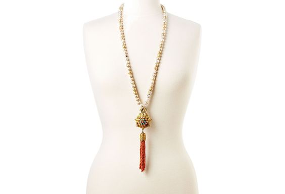 Emboldened Sun Coral and Pearl Necklace | Wanderlust Glam | One Kings Lane