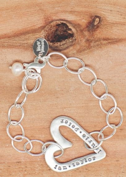 molded heart bracelet: Lisa Leonard designs