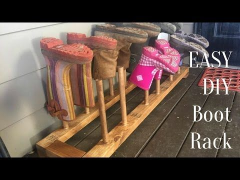 Stupid Easy Diy Boot Shoe Rack How To Build A Boot Or Shoe