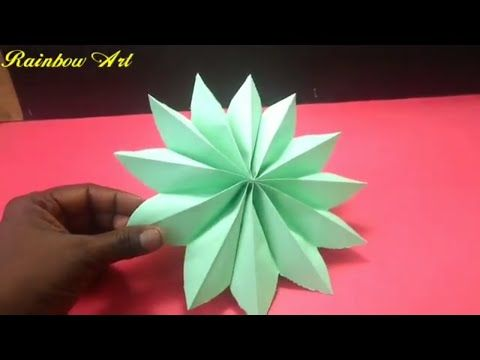 Simple Paper Craf T Beautiful Flower Design By Colour Paper