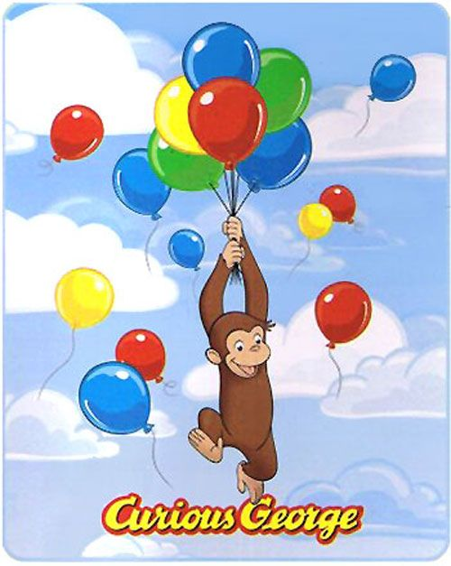 my red balloon + red balloons in children's books - This ...  |Curious George Holding Ballons Drawings