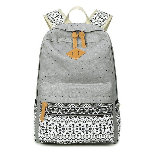 Abshoo Cute Lightweight Canvas Bookbags School Backpacks for Teen Girls (Navy)…