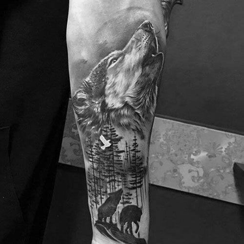 101 Best Wolf Tattoos For Men Cool Designs Ideas 2019 Update Inner Forearm Tattoo Wolf Tattoo Sleeve Forearm Tattoo Design